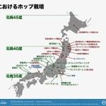 日本におけるホップ栽培
